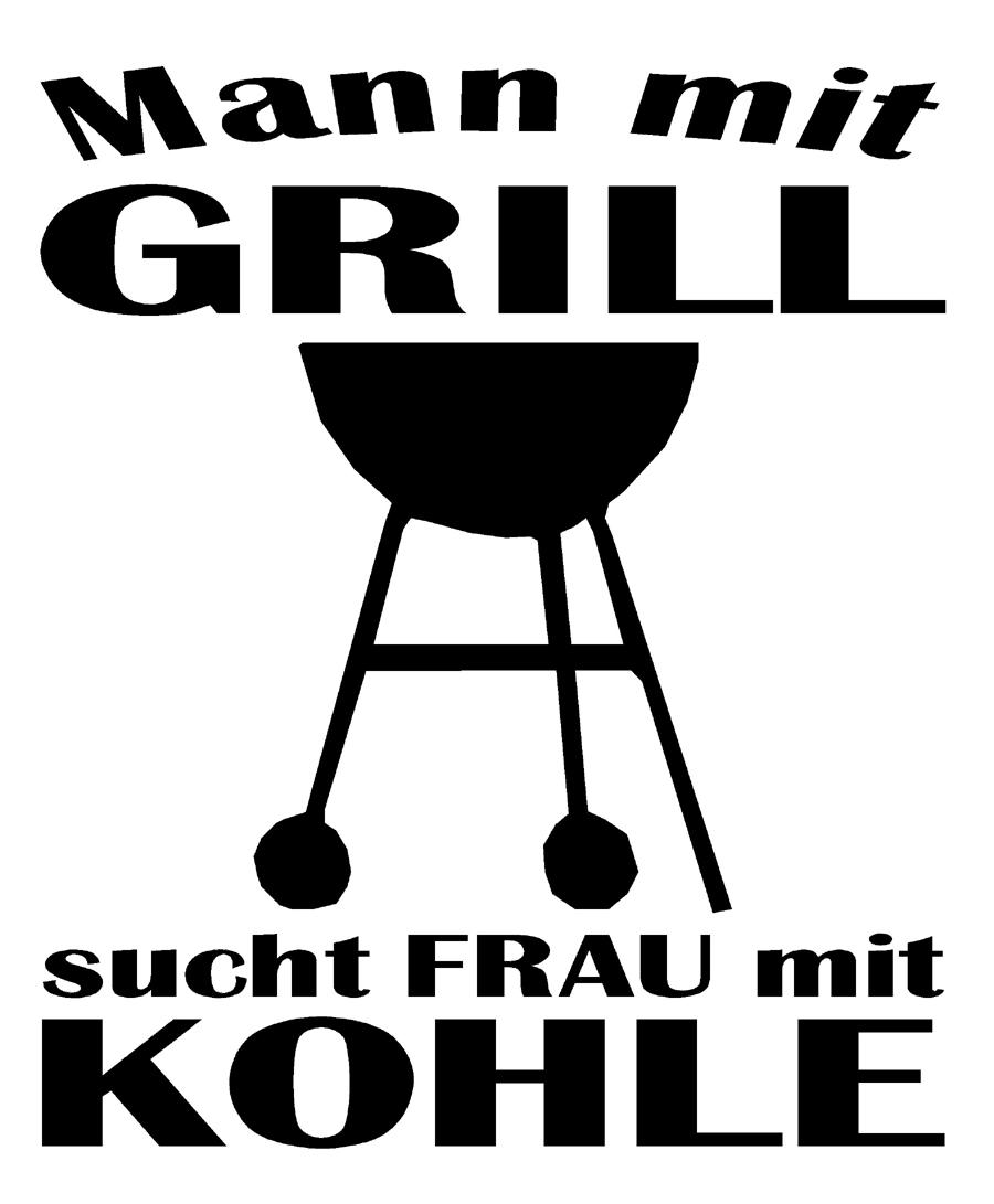 Mann mit grill sucht frau mit kohle schürze