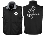 "Softshell-Weste Hundesport ""never without my dog"""