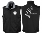 "Softshell-Weste Hundesport ""you´ll never walk alone"""